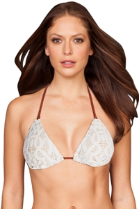 Nanette Lepore Coachella Valley Crochet Triangle Bikini Top