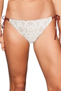 Nanette Lepore Coachella Valley Crochet Tie Side Bikini Bottom