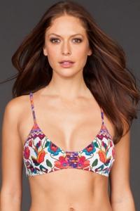 Nanette Lepore Antigua Strappy Bralette Bikini Top