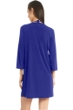 Jordan Taylor Quintessential Blue 3/4 Sleeve Keyhole Dress