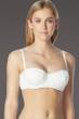 Coco Rave White D-Cup Underwire Shirred Bikini Top