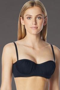 Coco Rave Black DD-Cup Underwire Shirred Bikini Top