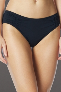 Coco Rave Black Side Shirred Bikini Bottom