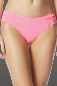 Coco Rave Pink Side Shirred Bikini Bottom