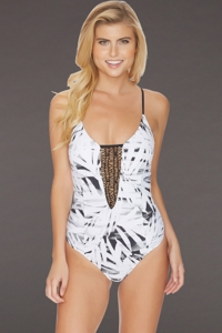 Reef Desert Palm Strappy Back One Piece