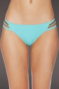 Reef Turquoise Strappy Hipster Bikini Bottom