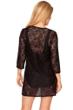 Longitude Black Sheer Love Lace Tunic