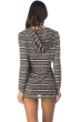 Kenneth Cole Burnout Striped Hooded Tunic with Kangaroo Pocket