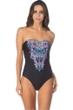 Kenneth Cole Dream Weaver Bandeau One Piece Swimsuit