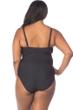 Kenneth Cole Dream Weaver Plus Size Bandeau One Piece Swimsuit