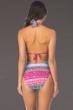 Kenneth Cole Riviera Stripe Twist Halter One Piece Swimsuit