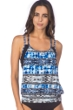 Kenneth Cole Indigo-Go Girl Layered Tankini Top