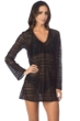 Kenneth Cole Black To The Beat Crochet Fringe Tunic