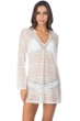 Kenneth Cole White To The Beat Crochet Fringe Tunic
