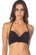 Kenneth Cole Reaction For The Frill Of It Black Underwire Push Up Bikini Top