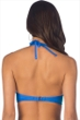 Kenneth Cole Reaction For The Frill Of It Periwinkle Underwire Push Up Bikini Top