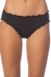 Kenneth Cole Reaction For The Frill Of It Black Cheeky Bikini Bottom