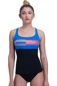 Free Sport by Gottex No Limits D-Cup High Neck V-Back Underwire Tankini Top
