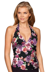 Kallure Rio Shirred Halter Tankini Top