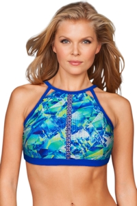 Profile Sport Pacific Blue High Neck Sports Bra