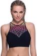 Profile Sport by Gottex Illuminate Mesh High Neck V-Back Bikini Top