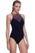 Profile Sport by Gottex Illuminate Mesh High Neck One Piece Swimsuit