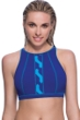 Profile Sport by Gottex DNA Indigo High Neck V-Back Bikini Top