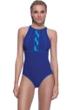 Profile Sport by Gottex DNA Indigo High Neck V-Back One Piece Swimsuit