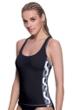 Profile Sport by Gottex DNA Black/White Y-Back Tankini Top
