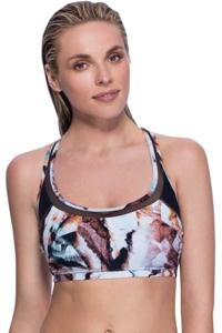 Profile Sport by Gottex Moonstone Brown Mesh Inset Y-Back Bikini Top