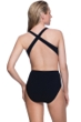 Profile Sport by Gottex Formula One High Neck Cut Out X-Back One Piece Swimsuit