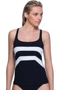 Profile Sport by Gottex Formula One D-Cup Underwire V-Back Tankini Top