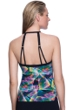 Profile Sport by Gottex Spirograph High Neck Cut Out H-Back Tankini Top