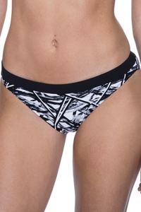Free Sport Off Track Black and White 2.5 Inch Hipster Bikini Bottom