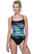 Free Sport In Tune Green Strappy One Piece Swimsuit