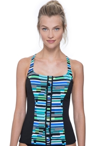 Free Sport In Tune Green D-Cup High Neck Underwire Tankini Top