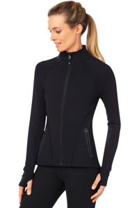 Shape Black Zip Up Training Jacket