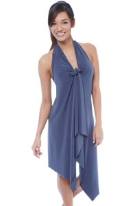 7-in-1 Wrapit Grey Short Beach Dress Cover Up
