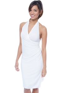 7-in-1 Wrapit Ivory Short Beach Dress Cover Up