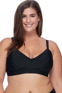SKYE Plus Size Solid Black Meli Bralette Bikini Top