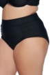 SKYE Plus Size Solid Black Waverly High Waist Bikini Bottom