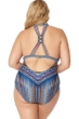 Jessica Simpson Plus Size Dusty Road Macrame Back One Piece
