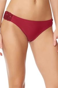Jessica Simpson Flower Power Spice Crochet Side Shirred Hipster Bikini Bottom