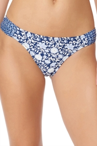 Jessica Simpson Patched Up Side Shirred Hipster Bikini Bottom