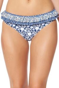 Jessica Simpson Patched Up Ruffle Hipster Bikini Bottom