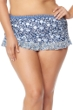 Jessica Simpson Plus Size Patched Up Ruffle Skirted Bikini Bottom