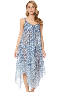 Jessica Simpson Patched Up Chiffon Lace Up Dress