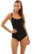 Panache Black Anya H-Cup Underwire Balconnet One Piece Swimsuit
