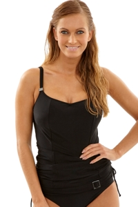 Panache Black Anya K-Cup Underwire Balconnet Tankini Top