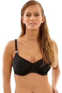 Panache Black Anya J-Cup Underwire Balconnet Bikini Bra
